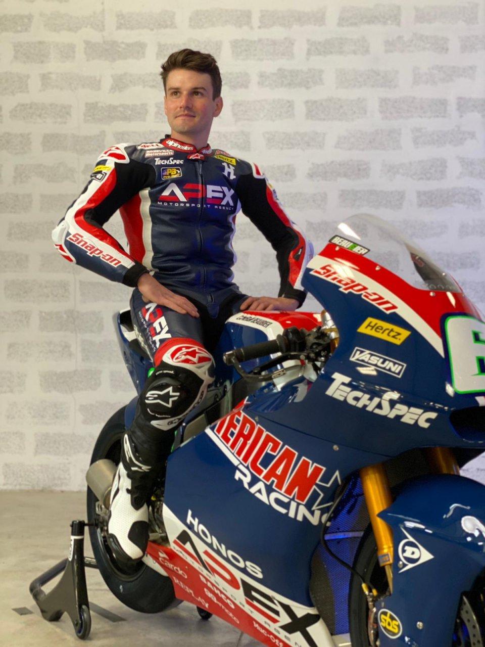 Moto2: Cameron Beaubier svela la livrea dell'American Racing a Portimao