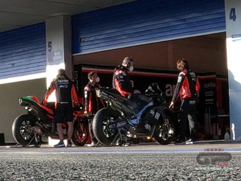 MotoGP: ESCLUSIVA - La foto del prototipo Aprilia RS-GP 2021 nei test di Jerez