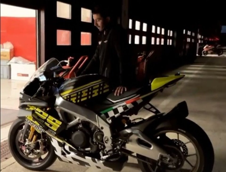 MotoGP: Iannone torna sull'Aprilia: in pista a Misano sulla RSV4