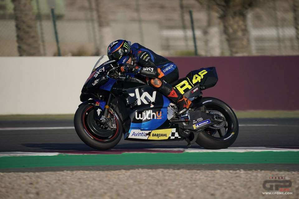 """MotoGP: Marini shrugs off being faster than Valentino """"I just had to ride, he develops the Yamaha"""""""
