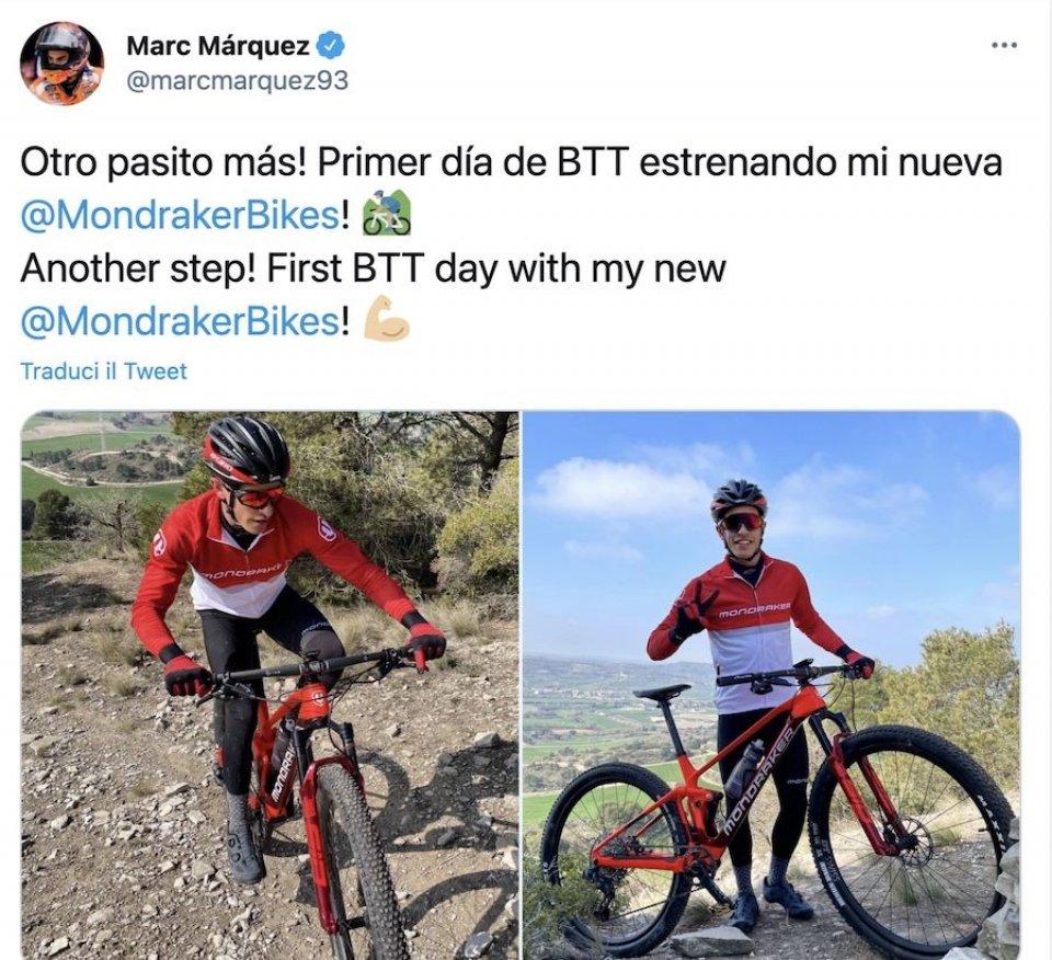 Marquez torna in sella...in bici! Obiettivo Qatar dopo l'ok dei medici