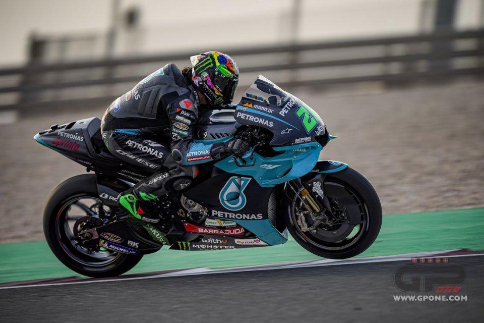 MotoGP: Morbidelli 1° in FP1 a Losail davanti ad A.Espargarò. Rossi 9°, tante cadute