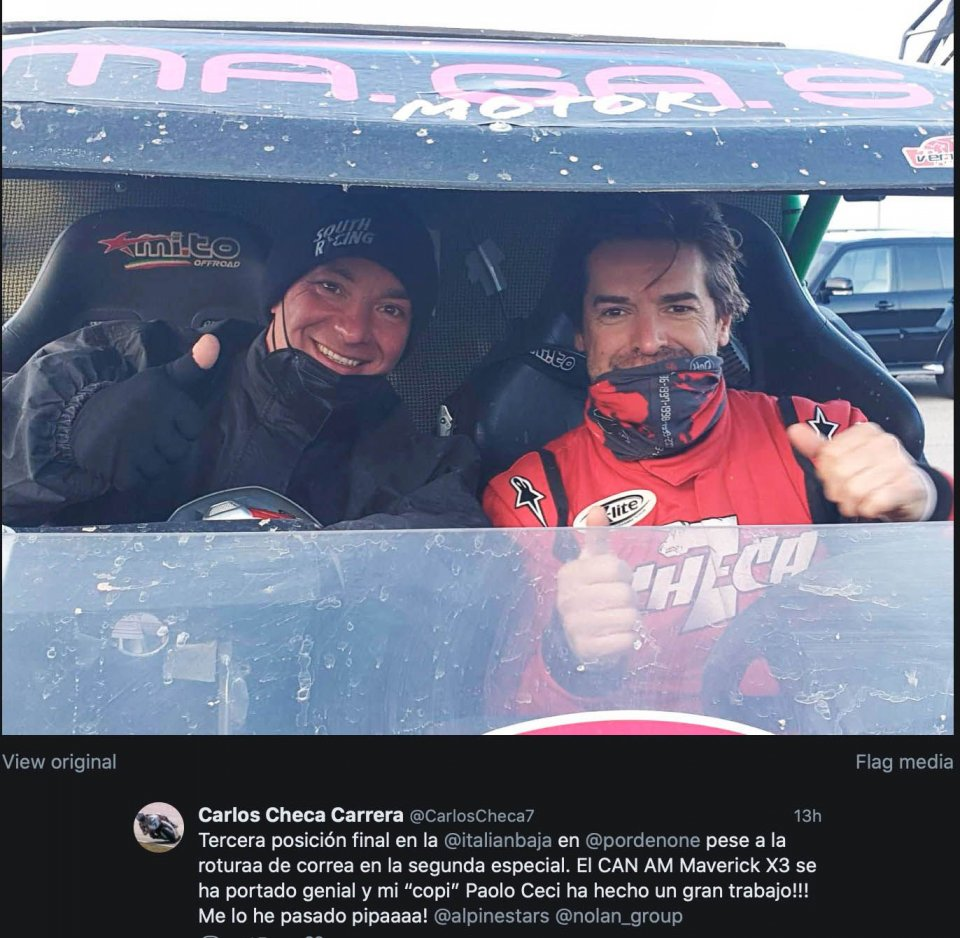 SBK: Carlos Checa third in the Italian Baja with the CAN AM Maverick X3