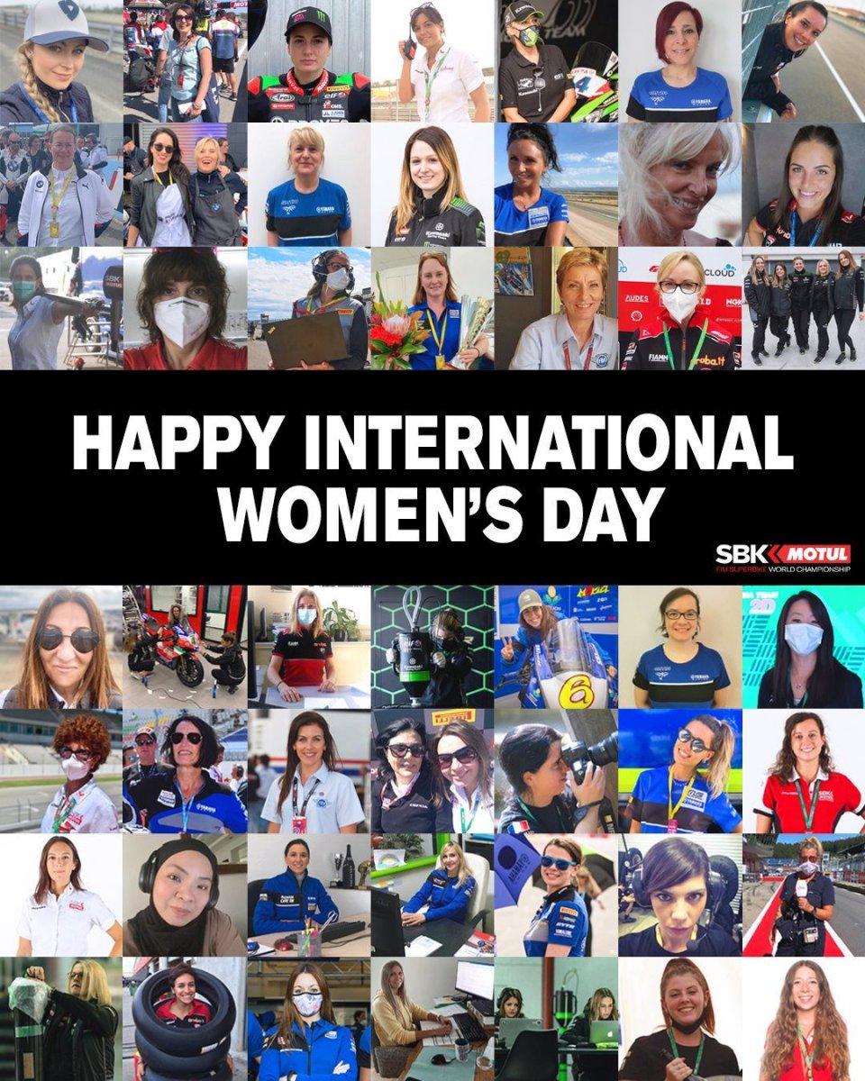 SBK: 8 marzo: Dorna festeggia le donne della Superbike