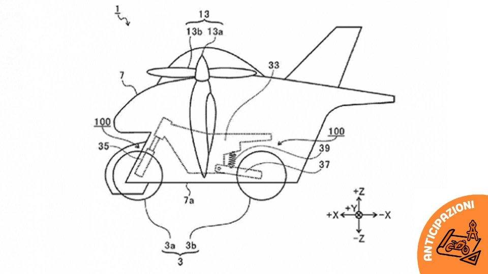 Moto - News: Subaru al lavoro sulla moto volante, depositati due brevetti