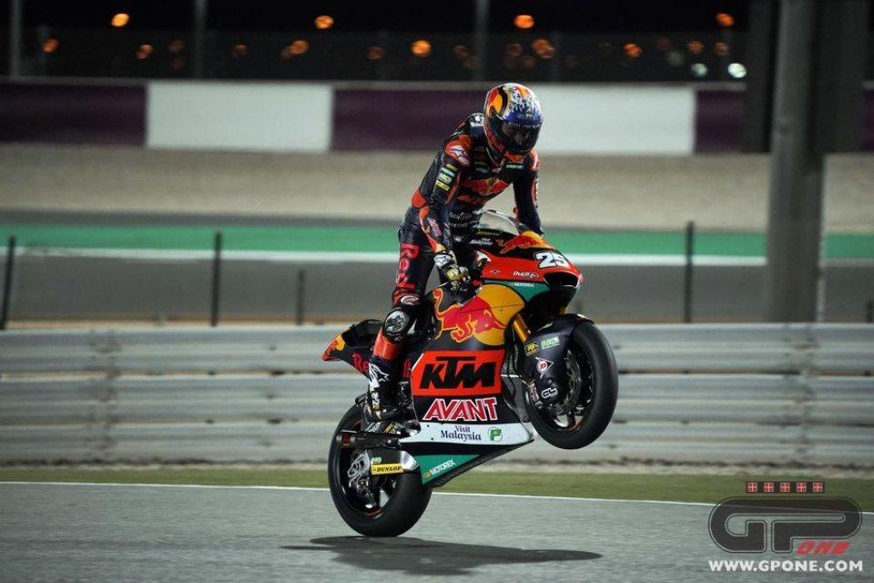 Moto2: FP2: Fernandez stacca tutti a Losail, 2° Di Giannantonio