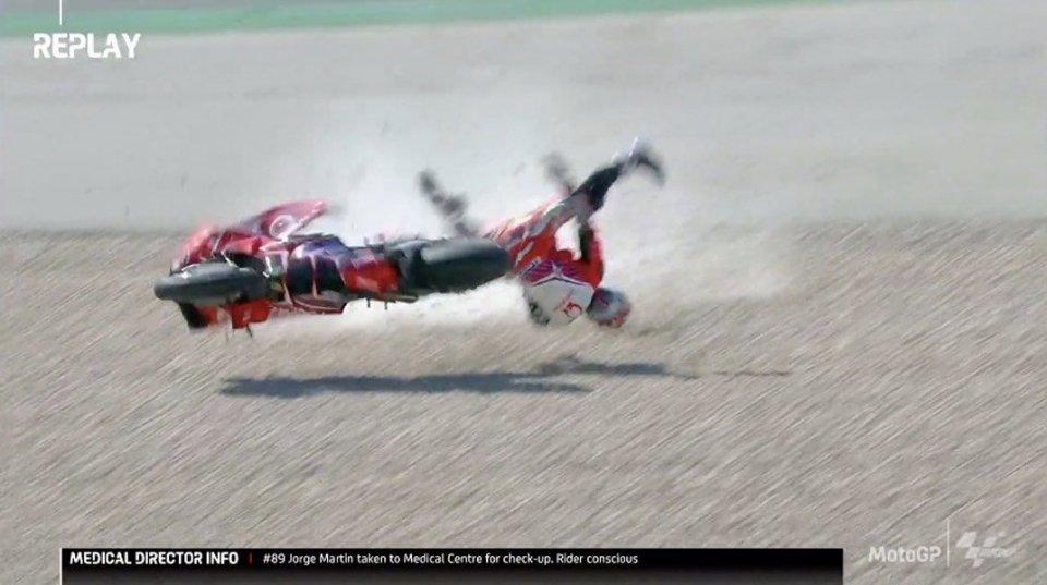 MotoGP: Paura per Martin a Portimao: trasferito all'ospedale di Faro per controlli