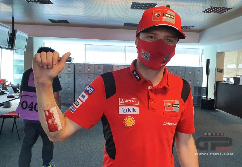 """MotoGP: Miller: """"A stupid mistake, and I even popped my stitches when I fell"""""""