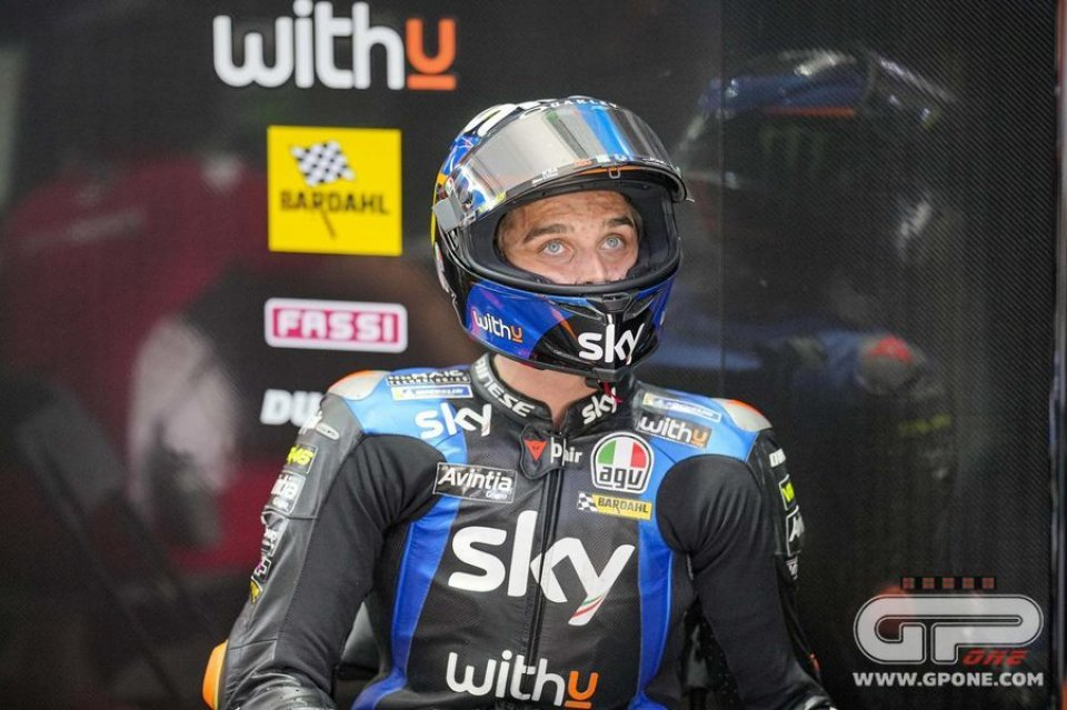"""MotoGP: Marini: """"I tried to go fast every lap, the asphalt reached 60 °C"""