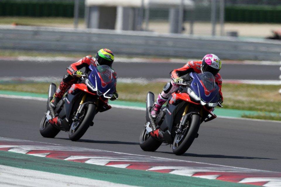 MotoGP: FOTO - Capirossi, Iannone, Gramigni: le stelle Aprilia in pista a Misano