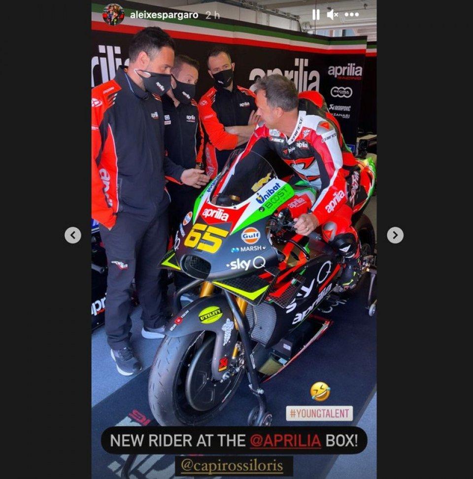 """MotoGP: Aleix Espargarò: """"Capirossi new Aprilia rider! A young talent"""""""