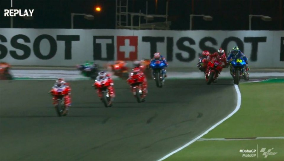 MotoGP: Jack Miller Vs Joan Mir: il video del contatto in rettilineo a Losail