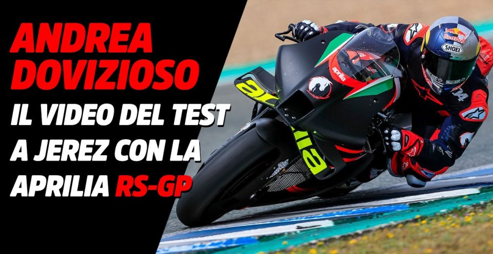 MotoGP: VIDEO - Andrea Dovizioso squeezes the Aprilia RS-GP 2021 at Jerez