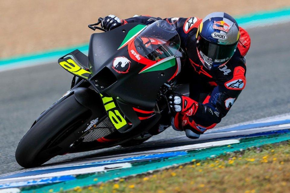 MotoGP: Jerez: Ecco le prime foto di Andrea Dovizioso sull'Aprilia RS-GP