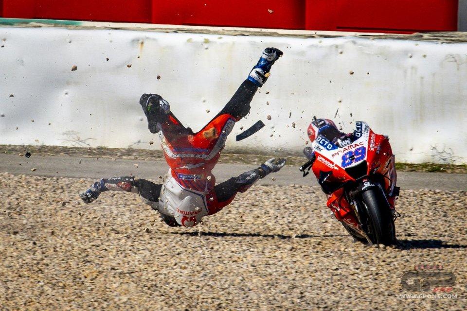 MotoGP: I dati dell'incidente di Martin: 7 picchi a oltre 20G nell'impatto