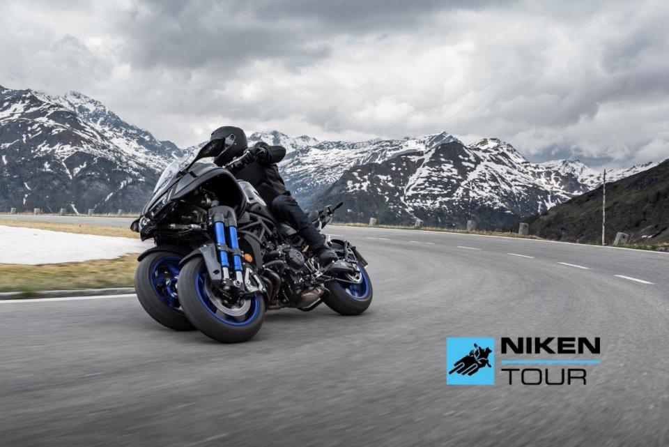 Moto - News: Yamaha, parte il Niken Tour 2021