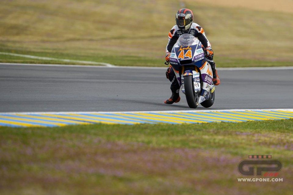 Moto2: Le Mans: Warm Up bagnato, 1° Canet davanti a Manzi, 4° Bezzecchi