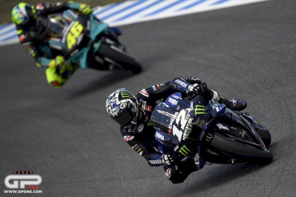 MotoGP: Jerez: Vinales beffa Zarco nel Warm Up. Cade ancora Marquez, Rossi 20°