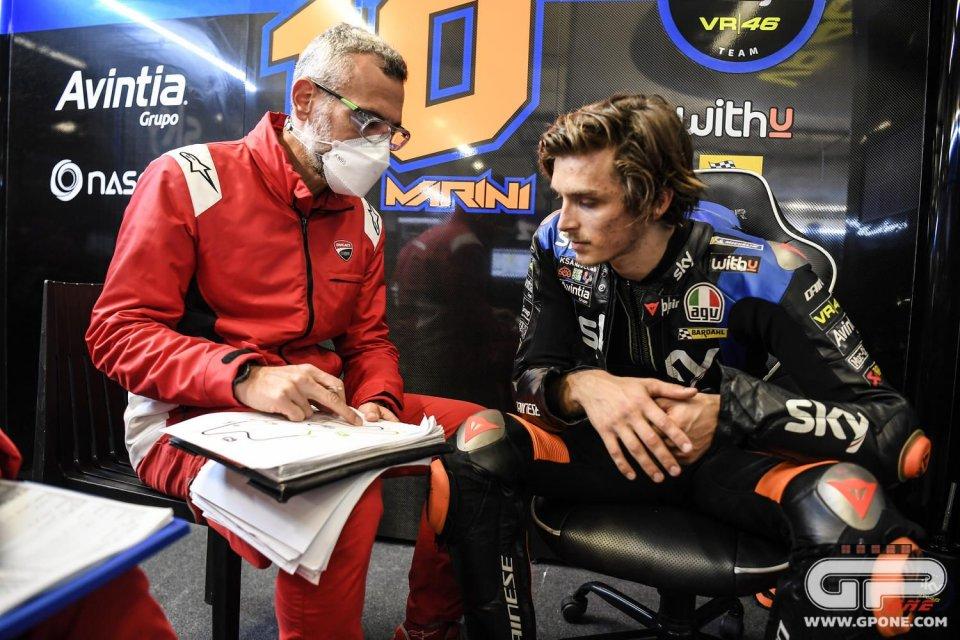 """MotoGP: Marini: """"Sul bagnato noi che non abbiamo nulla da perdere possiamo rischiare"""""""