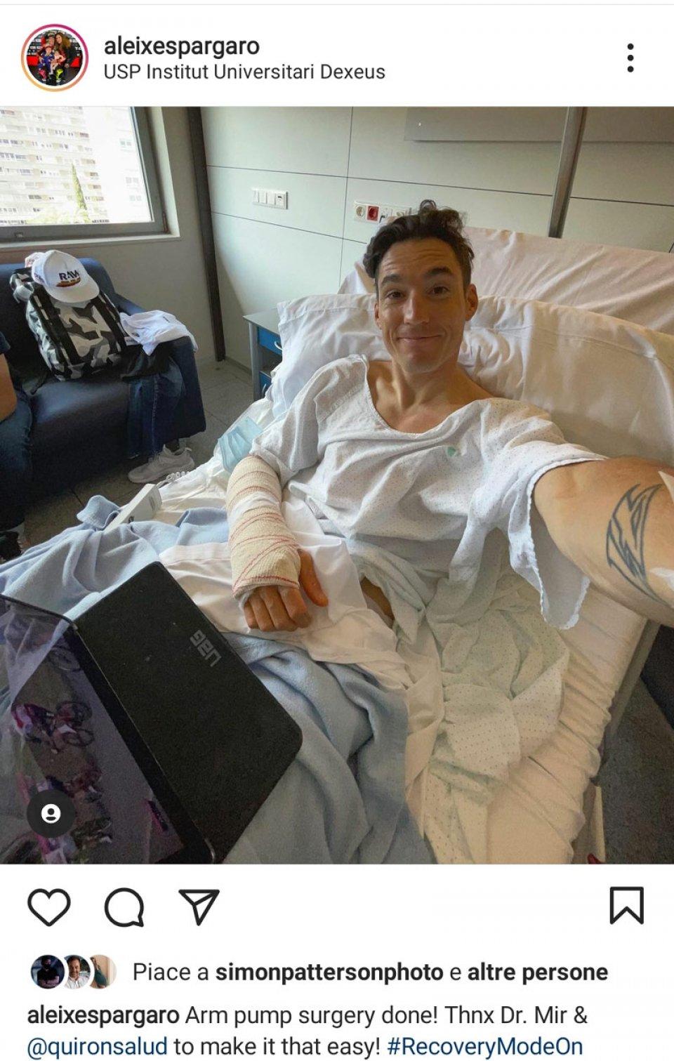 """MotoGP: Aleix Espargarò: """"Operazione per la sindrome compartimentale fatta!"""""""