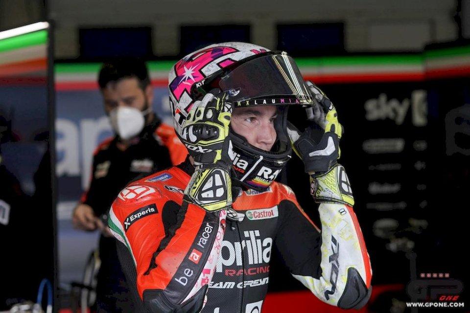 """MotoGP: A.Espargarò: """"Volevo il podio ma ricordiamoci da dove partiva Aprilia"""""""
