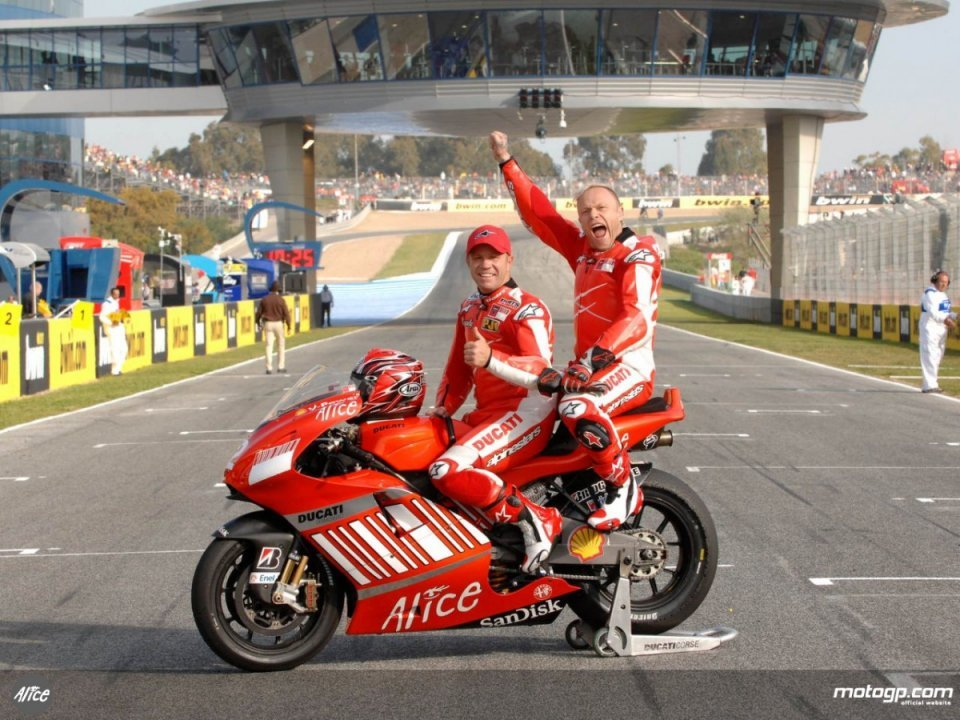 MotoGP: Back on track at Mugello the Ducati X 2 but without Randy Mamola!
