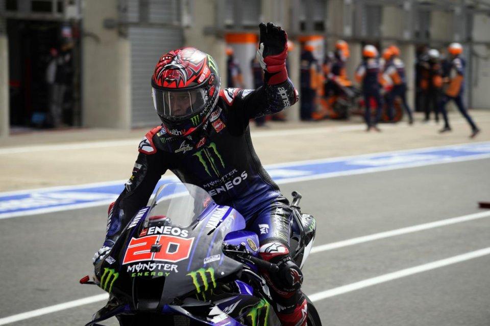 """MotoGP: Quartararo: """"Un GP stressante, ma sono sul podio dopo un'operazione"""""""