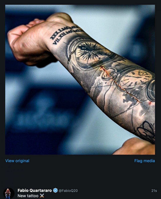 MotoGP: Quartararo jokes about the scar on his arm: 'a new tattoo'