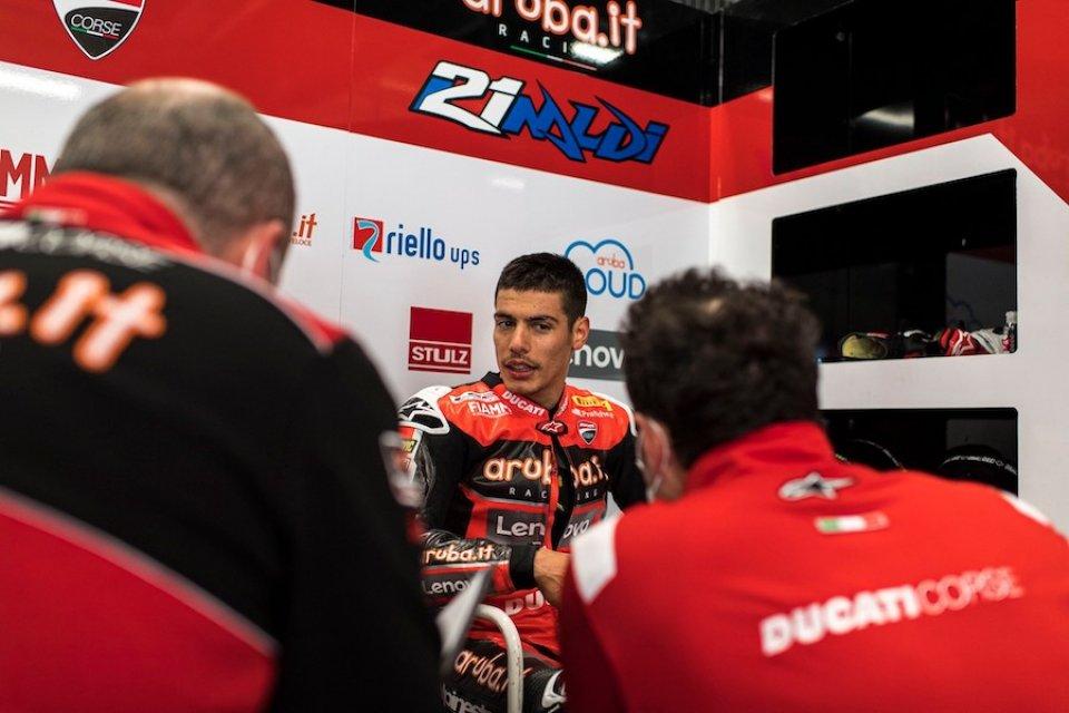 """SBK: Rinaldi: """"Oggi non avevo potenza sulla Ducati, dobbiamo capire perché"""""""