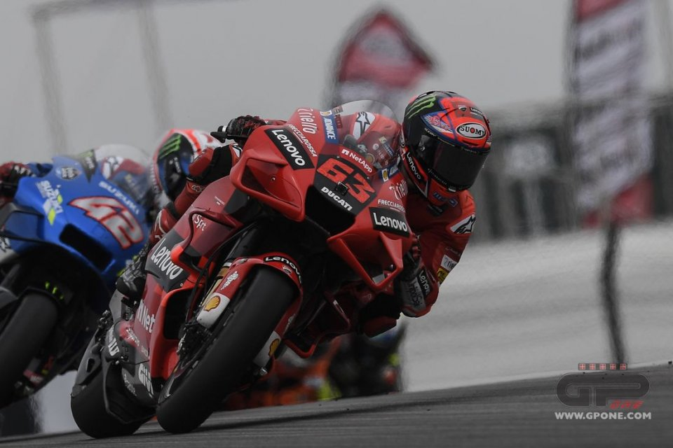 """MotoGP: Bagnaia: """"I threw the race away in the first laps, I'm not happy"""""""