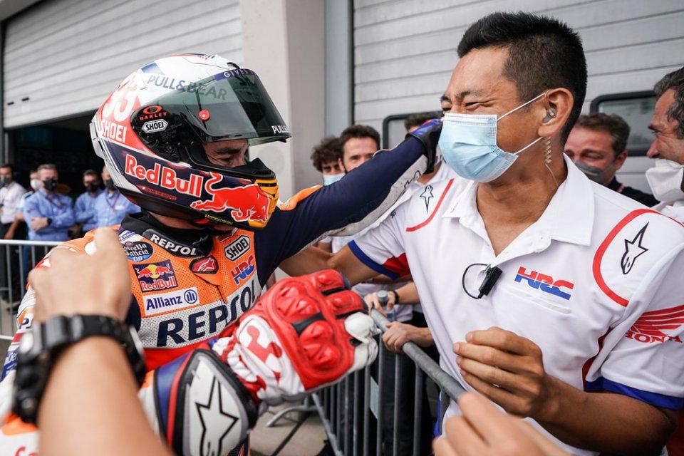 "MotoGP: Marquez parla da leader e sprona Honda: ""Non voglio fermarmi qui"""