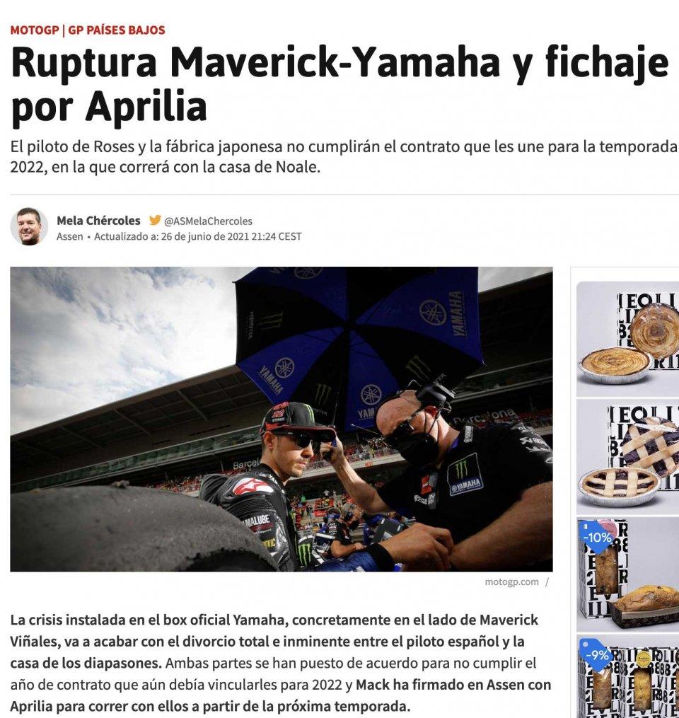 MotoGP: La Spagna concorde: Vinales lascerà Yamaha per Aprilia