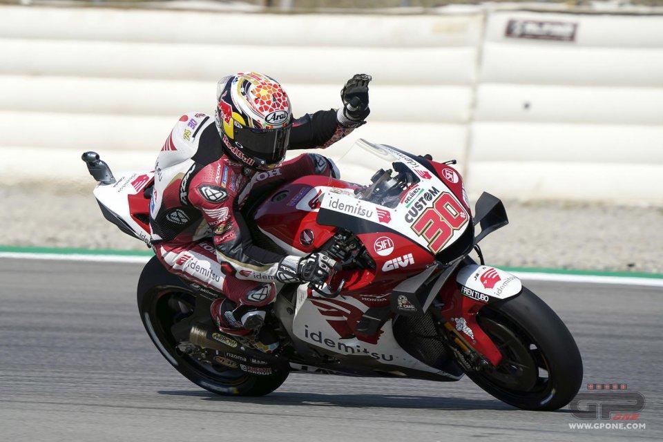 MotoGP: Nakagami 1° nel Warm Up di Barcellona. Vinales cade ma è 2°, Rossi 10°