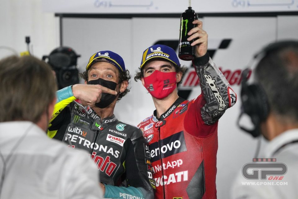 "MotoGP: Bagnaia: ""Rossi in Ducati? It could help us improve the bike."""