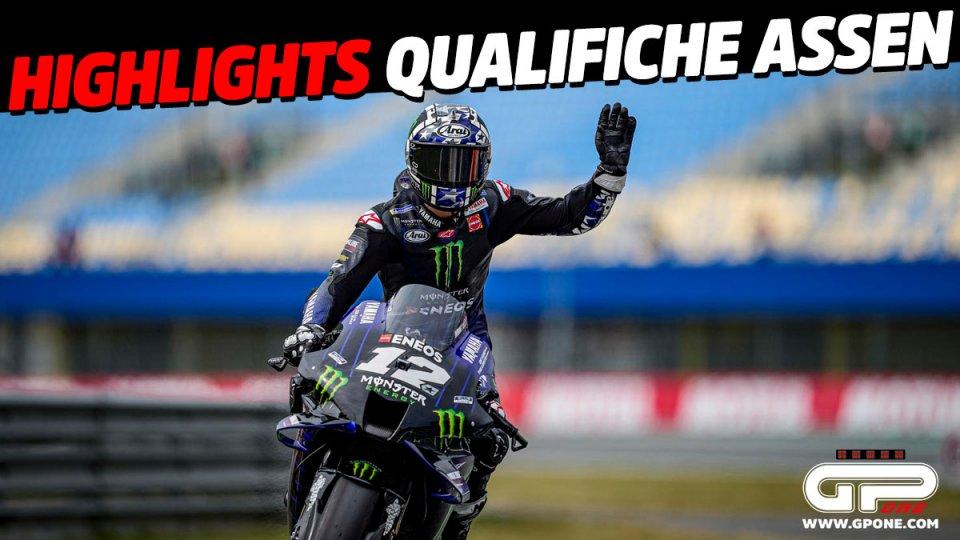 MotoGP: VIDEO - Gli highlights delle qualifiche MotoGP di Assen: Dominio Yamaha