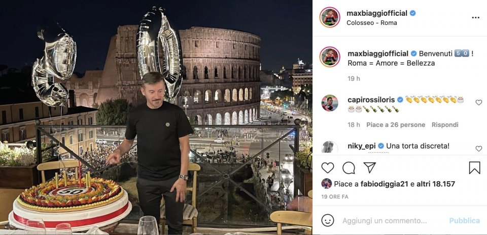 SBK: Max Biaggi 50 anni al Colosseo con Renato Zero: i migliori anni della vita