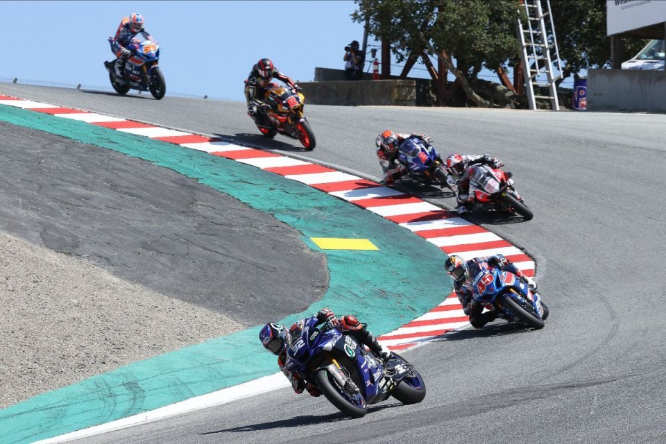 MotoAmerica: Gagne vince di nuovo - a malapena - in gara uno della HONOS Superbike a Laguna Seca