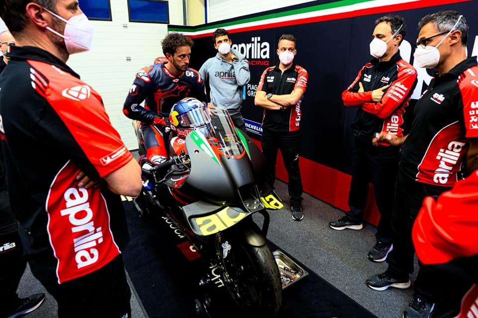 "MotoGP: Albesiano: ""It was Dovizioso rider on the Aprilia, not just any test rider"""