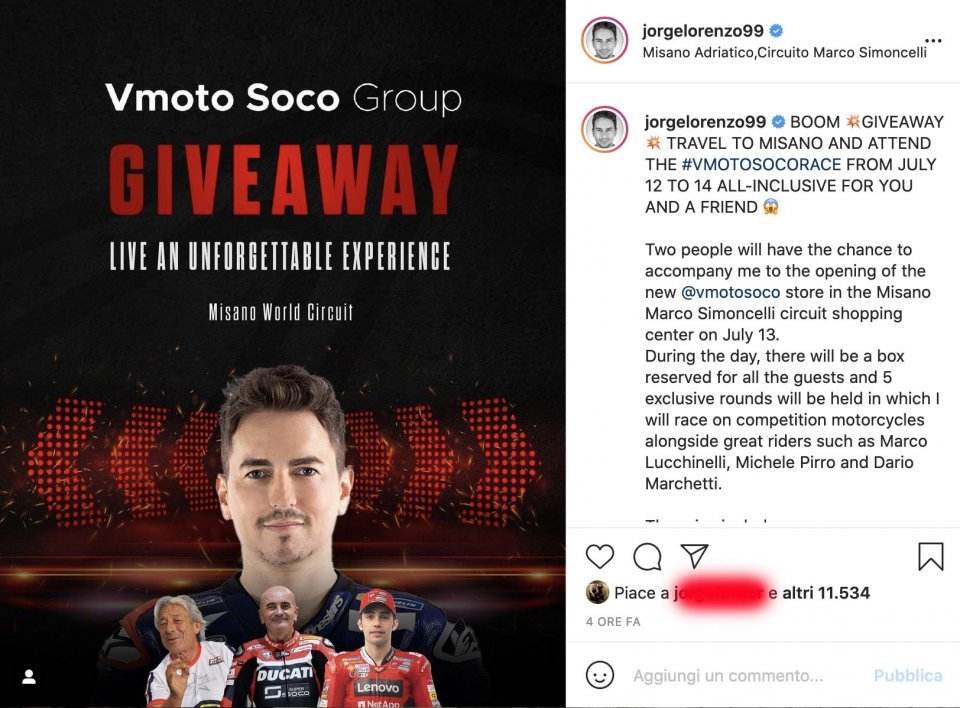 MotoGP: Giveaway Travel with Lorenzo with Lucchinelli, Pirro e Marchetti at Misano