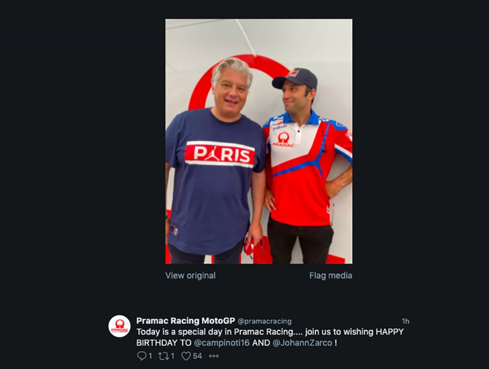 MotoGP: Happy Birthday Pramac: buon compleanno a Johann Zarco e Paolo Campinoti