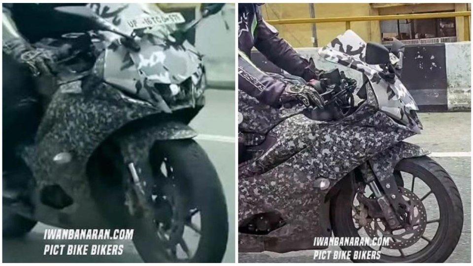 Moto - News: Yamaha YZF-R3 2022, nuove foto spia!