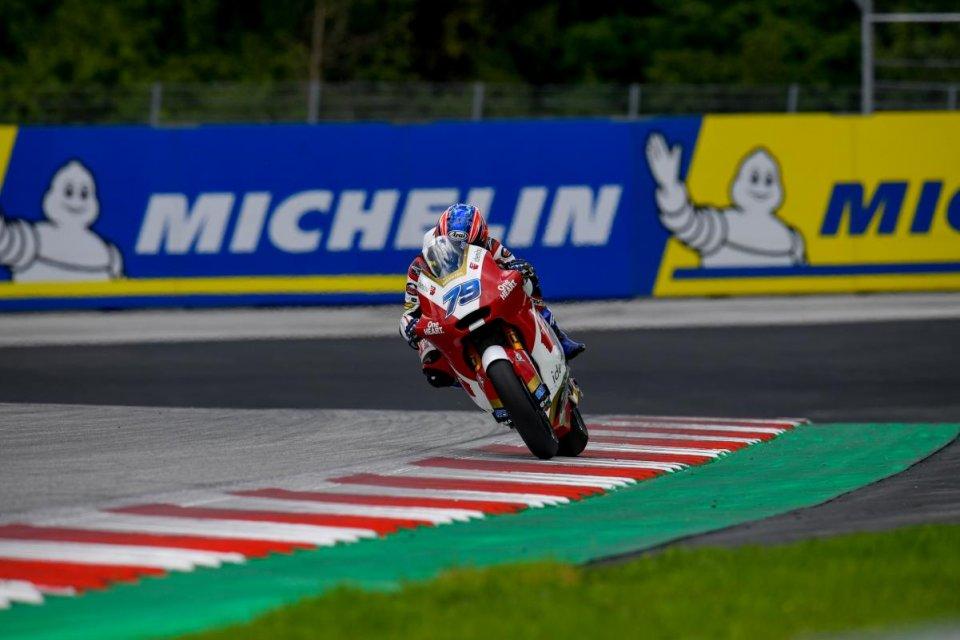 Moto2: Testa a testa Ogura-Fernandez in FP1, 4° Bezzecchi