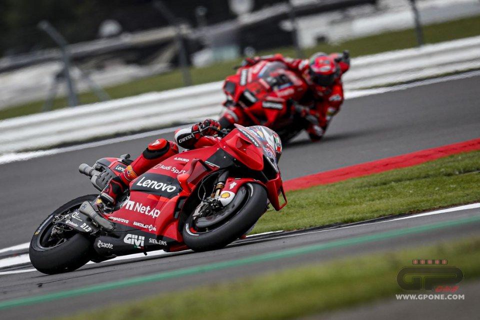"""MotoGP: Miller e Bagnaia: """"bello vedere la Ducati competitiva a Silverstone"""""""