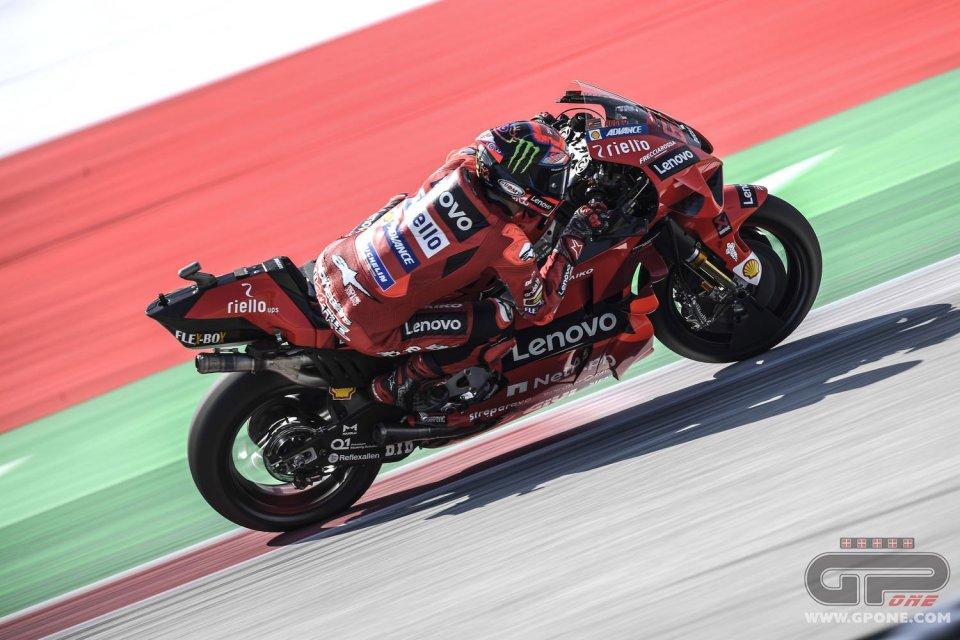 MotoGP: Bagnaia il migliore della FP3 in Austria, il record resta di Zarco. Rossi 15°