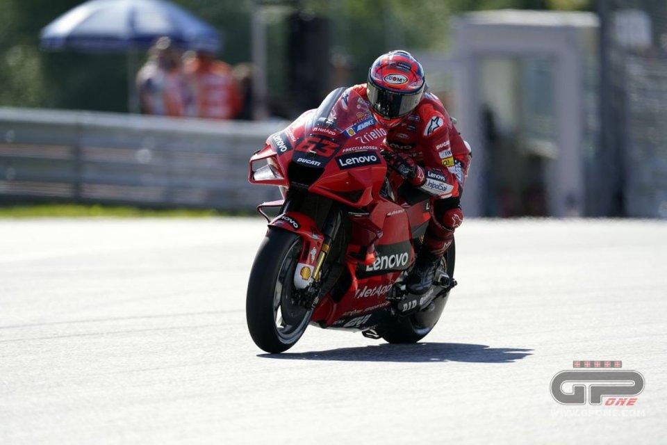 MotoGP: Bagnaia-Ducati sfidano Quartararo nella FP3 e prenotano la pole al Red Bull Ring