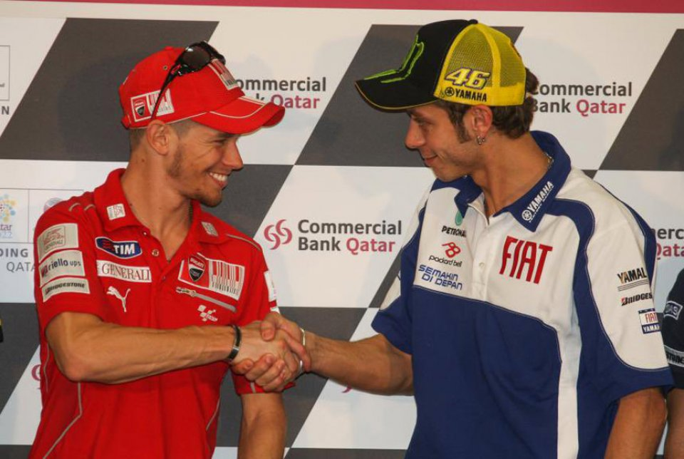 """MotoGP: Casey Stoner: """"Valentino, you made my achievements more important."""""""