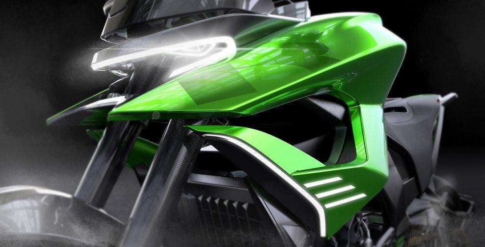 Moto - News: Kawasaki: nel futuro moto adattive che si trasformano