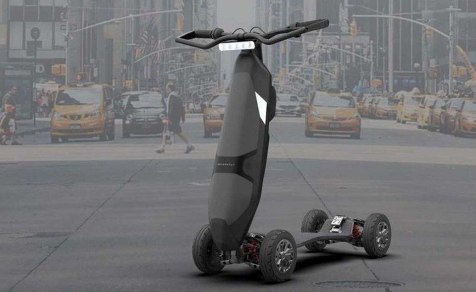 "Moto - News: Dragonfly: il monopattino elettrico diventa ""hyperscooter"""