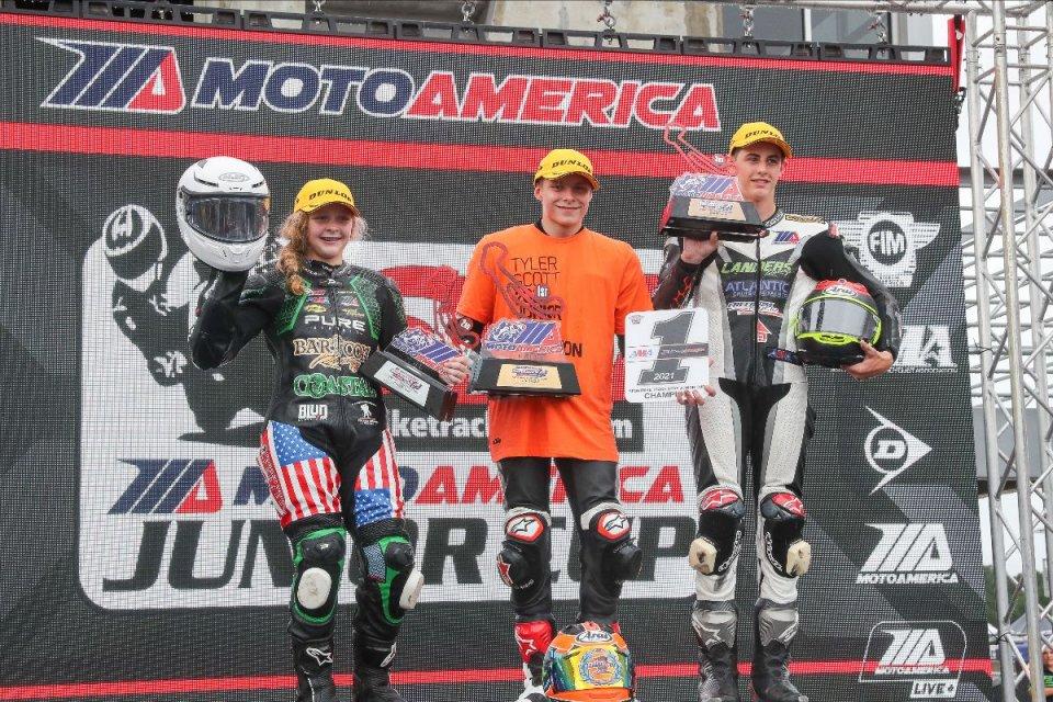 MotoAmerica: La Junior Cup 2021 a Tyler Scott, sul podio la pilotessa Kayla Yaakov