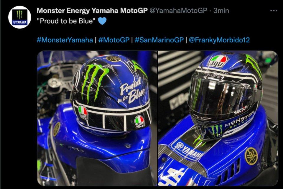 MotoGP: Morbidelli 'Proud to be in blue' celebrates Yamaha at Misano